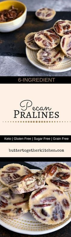 These super easy sugar free pecan pralines are the perfect crunchy sweet treat! Pecan pralines are a favorite old-timey candy! They are perfect treat for a low carb and keto diet. Low Carb Candy, Keto Candy, Low Carb Sweets, Low Carb Desserts, Low Carb Recipes, Ketogenic Desserts, Diabetic Desserts, Flour Recipes, Paleo Recipes