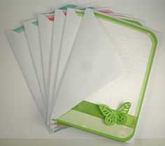 Handmade Paisley Embossed Butterfly Greeting Card