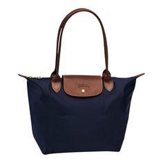Navy Small Le Pliage Bag