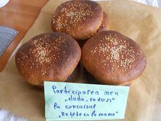 Chifle pentru hamburgeri, pljeskavica sau sandviciuri Hamburger, Bread, Food, Brot, Essen, Baking, Burgers, Meals, Breads