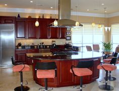 Arched Custom Kitchen Island Exceptional Custom Kitchen Island With Swivel Barstools different look but I like it