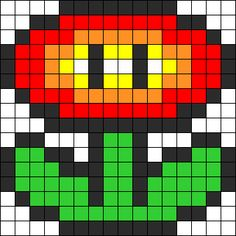 Mario Fire Flower perler bead pattern