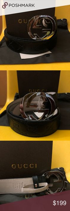 100% Real Gucci Men Black Guccissima Belt 50% off! Selling 100% Authentic Gucci belts made in Italy. Comes with Box, Dustbag, and Brand New belt w/tag. 1-2 days to ship. Fast shipping! I do bundle orders. Buy more for more discount! No lowballers please. Lowballing will be ignored.  Follow me for updates on more Gucci listings on my closet. Updated daily! Gucci Accessories Belts