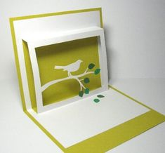 Beautiful and simple pop-up card.