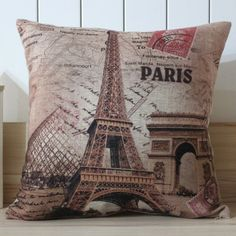 "$5 18x18=45x45cm France Paris Eiffel Tower Linen Pillow Case Cushion Cover Louvre Museum Triumphal Arch LINKWELL  Burlap Decorate your home with this attractive Linen cushion cover Add a touch of graceful color to your bedroom or living room Made of Linen cotton Measures 18 inches square (18"" * 18"" insert are not included)"
