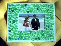 A Sea Glass Sprinkled Picture Frame: ~ craft project submitted by Toshi Kanno     For a long time I didn't know what to do with all my collection of sea glass in a jar.  One...  Read more: http://www.odysseyseaglass.com/a-sea-glass-sprinkled-picture-frame.html