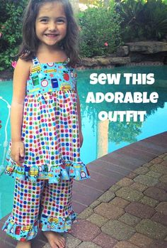 Sweet and easy outfit you can sew your little girl!