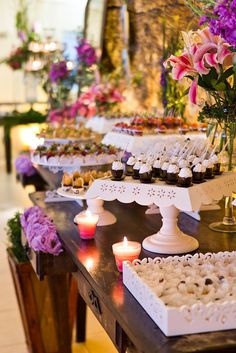 Dessert table.  Source: Mariana Boro via flikr #weddingfood #reception #desserttable