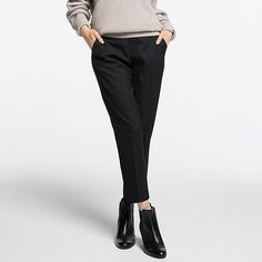 Women's Smart Style Ankle Pants, BLACK