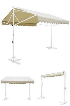 Floor Standing Manual Awning Metal Outdoor Double Sided Shelter Canopy Sun Shade for sale Canopies, Sun Shade, Shelter, Gazebo, Shades, Patio, Flooring, Metal, Outdoor Decor