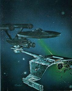 The Enterprise in dry dock, by Mike Minor. Star Trek Rpg, Star Trek Show, Star Wars, Star Trek Wallpaper, Trek Deck, Klingon Empire, Star Trek Posters, 70s Sci Fi Art, Star Trek Beyond