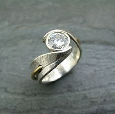 Custom Bodhi Leaf Ring by StonesThrowStudio, via Flickr
