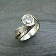 Custom Bodhi Leaf Ring by StonesThrowStudio, via Flickr