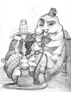 the art of Will Terrell Caterpillar Alice In Wonderland, Alice In Wonderland Characters, Alice Blue, Art Boards, Art Reference, Creatures, Sketches, Drawings, Illustration