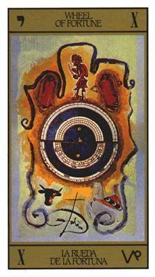 Salvador Dali Tarot Card.
