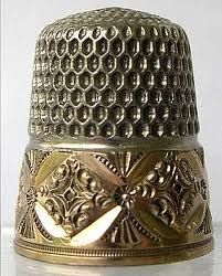 beautiful antique thimble, I love old thimbles
