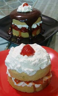 Gluten Free Chocolate Covered Strawberry Sponge (short) Cake... YES