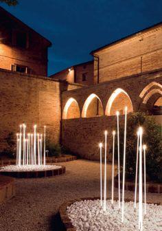 Paletto luminoso per esterni per spazi pubblici (LED) di Jean Michel Wilmotte - PENCIL : B493 - iGuzzini