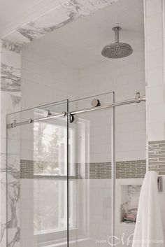 Pivot vs. Sliding Shower Doors | The Small and Chic Home