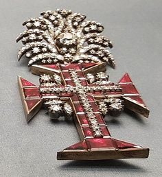PORTUGAL_Real Orden de Cristo / Joalharia Portuguesa século XVIII-XIX Royal Jewelry, I Love Jewelry, Grand Cross, Crown Jewels, Cross Pendant, Portugal, Awards, Royalty, Antiques