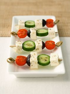 <p>Simplicity is the key to happiness. What's easier than a kabob? Président Feta Chunk paired with fresh cucumbers, tomatoes and olives is the appetizer of the summer. Keep it cold or try it grilled at your next BBQ.</p>