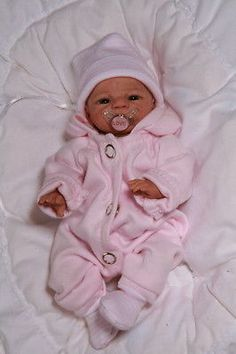 """OOAK  Artist  Baby Girl   """"Selina"""" unique  approx. 8 inches"""