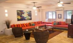 Living Room - Luxury Private Home Rental Cartagena Colombia
