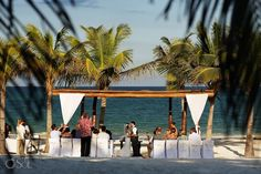 Jessica and Andrew Tie the Knot at Secrets Maroma Beach
