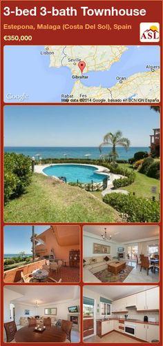3-bed 3-bath Townhouse in Estepona, Malaga (Costa Del Sol), Spain ►€350,000 #PropertyForSaleInSpain