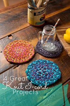 4 Quick Knit I-Cord Holiday Gift Projects 2019 4 Ideas for Using Knit I-cord in Gifts The post 4 Quick Knit I-Cord Holiday Gift Projects 2019 appeared first on Knitting ideas. Spool Knitting, Loom Knitting Projects, Yarn Projects, Loom Patterns, Knitting Patterns, Knifty Knitter, I Cord, Quick Knits, How To Purl Knit