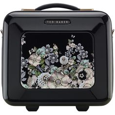 Ted Baker Gem Garden Vanity Case - Black (695 PLN) ❤ liked on Polyvore featuring beauty products, beauty accessories, bags & cases, bags, black, makeup, accessories, handbags and ted baker