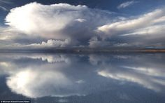 The Salar de Uyuni, on the Andean plateau, southwest of Bolivia, is the world's largest salt desert, a breathtaking landscape with unusual features