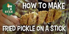 Make Deep-Fried Pickle On A Stick - http://onastickpodcast.com/make-deep-fried-pickle-on-a-stick/?utm_source=Pinterest&utm_medium=On+A+Stick+Pinterest&utm_campaign=SNAP%2Bfrom%2BOn+A+Stick