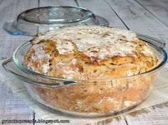 Chleb z garnka z ziarnami