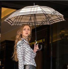 Auto open fashional British check design umbrellas,190T pongee printed fabric,long-handle umbrella,straight umbrella,rain gear #British check mini golf umbrella #stick umbrella #fiberglass umbrella #aliexpress