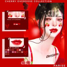 🍒CHERRY OVERDOSE COLLECTION by 🍒 This project has taken me days of constant work but it all paid off, here is a new collection! The Sims 4 Skin, The Sims 4 Pc, Sims 4 Cas, Sims Cc, Los Sims 4 Mods, Sims 4 Game Mods, Sims 4 Mods Clothes, Sims 4 Clothing, Maxis