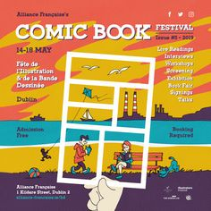 The Alliance Française Dublin with Illustrators Ireland is delighted to bring you a day festival of celebration of comic books from the Irish and francophone community. Clare Foley, Dublin, Pittsburgh Usa, Moving To Ireland, Create A Comic, Comics Maker, Irish Times, Book Festival, Becoming A Teacher