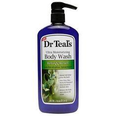 Dr. Teal's Ultra Moisturizing Body Wash, Relax & Relief with Eucalyptus Spearmint - 24 fl oz
