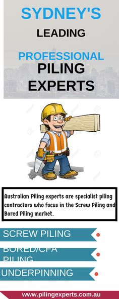 Australian Piling experts are specialist piling contractors who focus in the Screw Piling and Bored Piling market. We are a growing company in Sydney which has over 20 Years industry experience within the residential, commercial, industrial and mining projects Australia wide.
