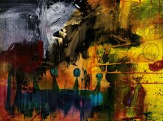 Dark Colorful Abstract Art by Michel Keck