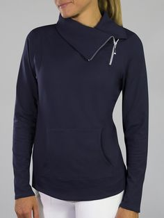 Check out our Mai Tai (Midnight Navy) JoFit Ladies & Plus Size Jumper Golf Jacket! Find stylish golf apparel at #lorisgolfshoppe Click through to own this jacket!