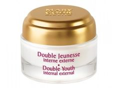 "Mary Cohr Double Youth - 50ml Double Jeunesse interne externe  An exceptional general anti-ageing care product, Double Jeunesse hits two of women's rejuvenation targets: ""internal"" youth, by creating youth in the cells, and ""external"" youth, by erasing the visible signs of ageing"