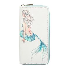 Sansarya New 2018 Sweet Lovely Cute Fables Mermaid Pattern Long Woman Wallet Card Holder Wallet Girls Zipper Money Purse Attractive And Durable Women's Bags