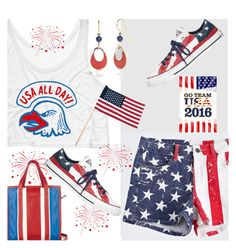 """""""GO USA"""" by deborah-calton ❤ liked on Polyvore featuring Silver Forest, Balenciaga and Converse"""