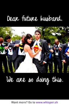PLUS me in a wonder woman cape and cuffs. Fabulous superhero wedding photo