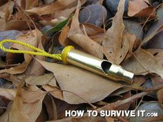 All you need is a hacksaw to turn an empty shell casing into a very loud signaling whistle. This would be a great camp craft and useful also!