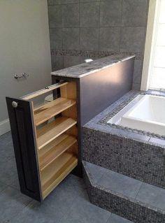 Интересные системы хранения в ванной комнате