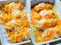 Chicken topped with ranch seasoned cream cheese and cheddar that's baked until melted before topping with bacon! Baked Ranch Chicken, Baked Chicken Recipes, Mexican Food Recipes, Dinner Recipes, Dinner Ideas, Cooking Recipes, Healthy Recipes, Healthy Meals, Bacon Seasoning