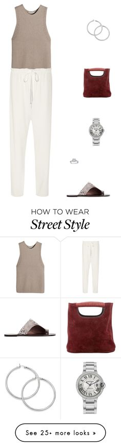 """Street Style"" by julieselmer on Polyvore featuring Vince, The Row, Simon Miller, All Tomorrow's Parties and Cartier"