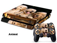 Eddie Internatioanl TM PS4 Console Designer Skin for Sony Playstation 4 Console System Plus Two 2 Decals For PS4 Dualshock Controller  Dog -- Learn more by visiting the image link.Note:It is affiliate link to Amazon.